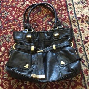 B makowsky black leather bag